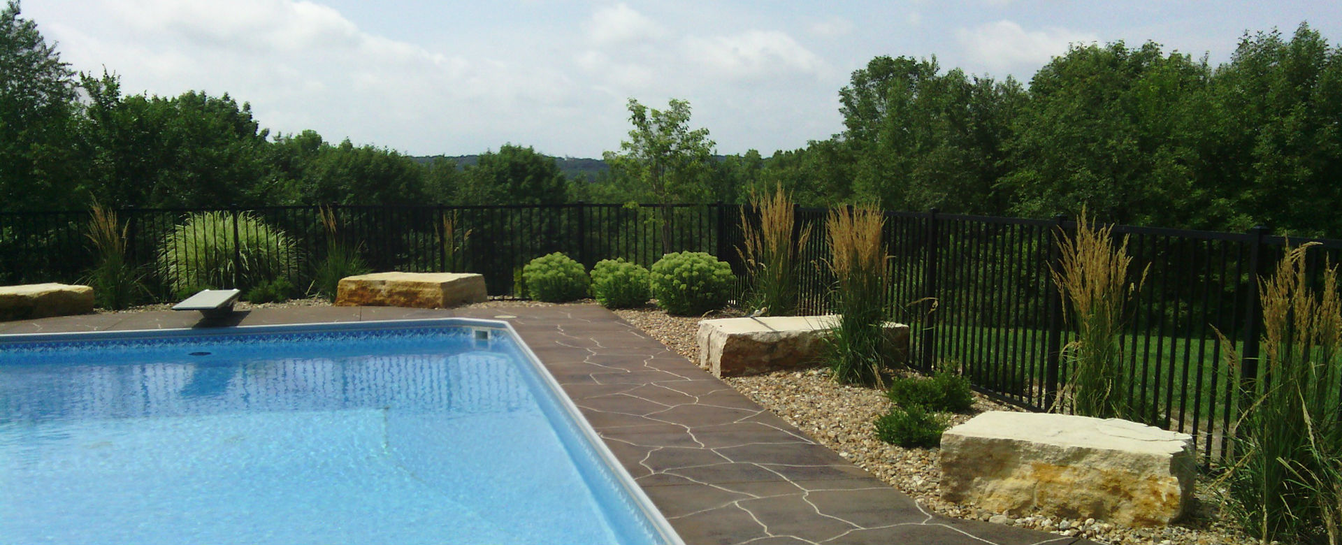 Forever Green Coralville Iowa Landscaping pool plantings