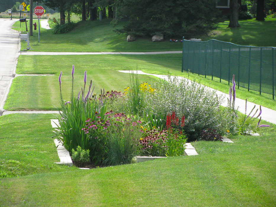 Forever Green Coralville Iowa Landscaping rain garden natural rainscapes