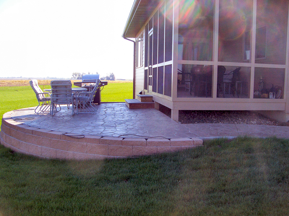 Forever Green Coralville Iowa Patios raised brick