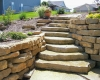 Forever Green Coralville Iowa Retaining Walls limestone wall steps