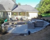Forever Green Coralville Iowa Retaining Walls patio backyard fire pit