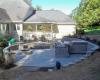 Forever Green Coralville Iowa Retaining Walls patio backyard fire pit