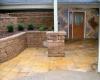 Forever Green Coralville Iowa Retaining Walls patio retaining wall column