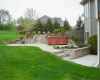 Forever Green Coralville Iowa Retaining Walls patio two levels stairs