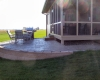 Forever Green Coralville Iowa Retaining Walls raised patio