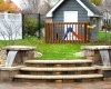 Forever Green Coralville Iowa Retaining Walls steps outdoor patio waterfall