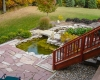Forever Green Coralville Iowa Water Features bridge pond patio