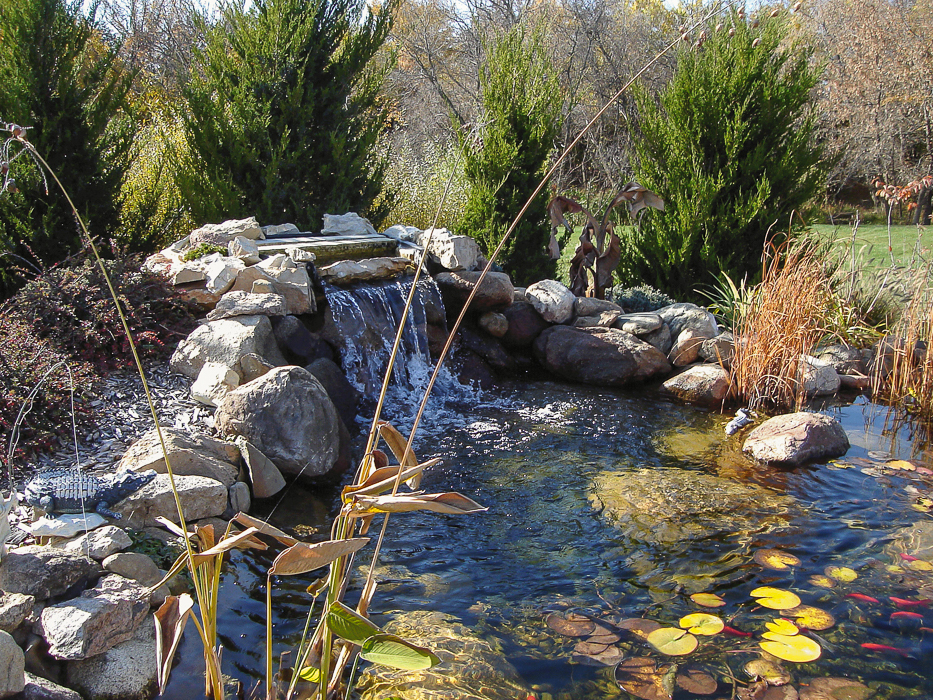 Forever Green Coralville Iowa Water Features landscaping hardscapes natural pond Iowa City