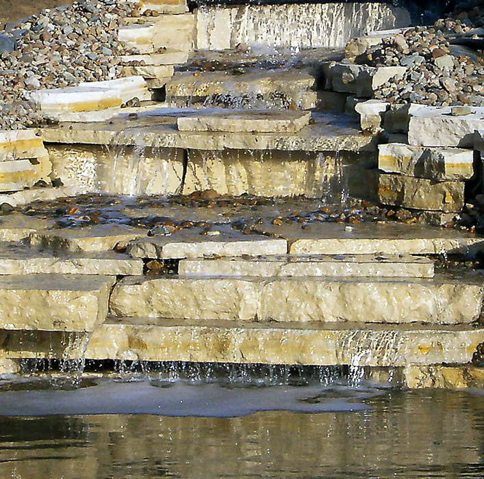 Forever Green Coralville Iowa Water Features limestone