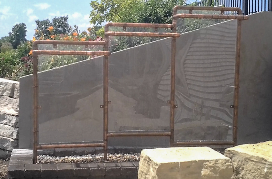 Forever Green Coralville Iowa Water Features water wall