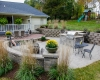 Forever Green Grows Coralville Iowa Fire Pits outdoor kitchen patio sitting wall