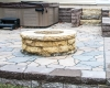 Forever Green Grows Coralville Iowa Fire Pits stone backyard steps
