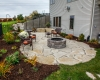 Forever Green Coralville Iowa Fire Pits stone deck backyard