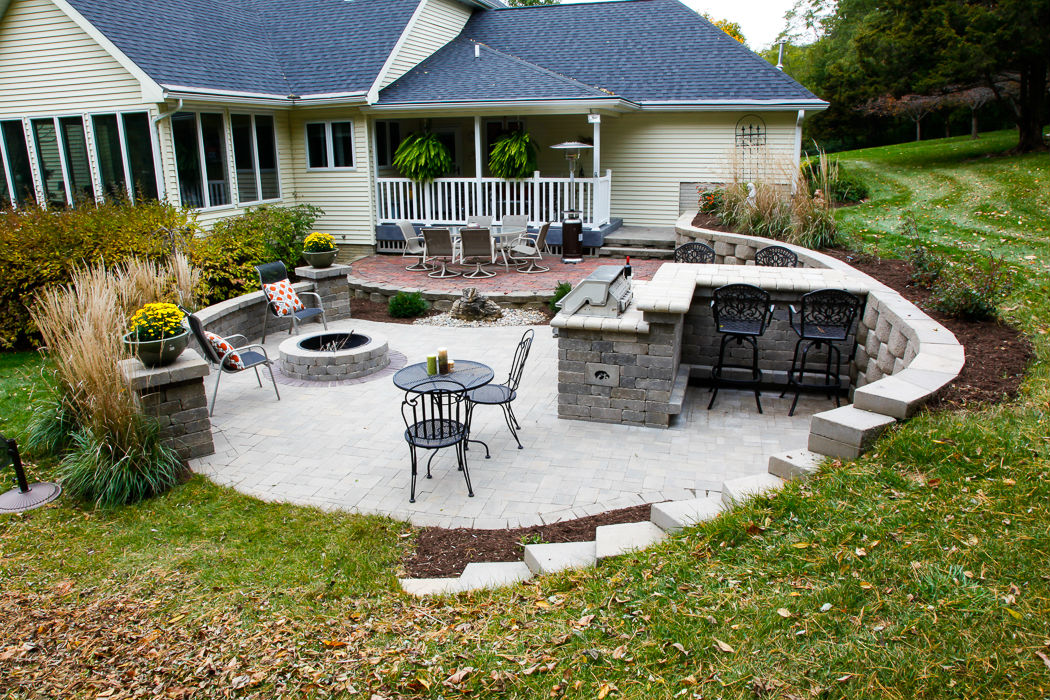 Forever Green Coralville Iowa Fire Pits patio stone