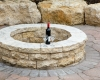 Forever Green Coralville Iowa Fire Pits stone circle wine