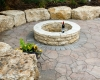 Forever Green Coralville Iowa Fire Pits stone step circle wine