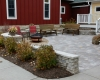 Forever Green Coralville Iowa Landscaping fire pit patio wall