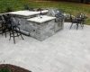Forever Green Coralville Iowa Patios outdoor kitchen grill