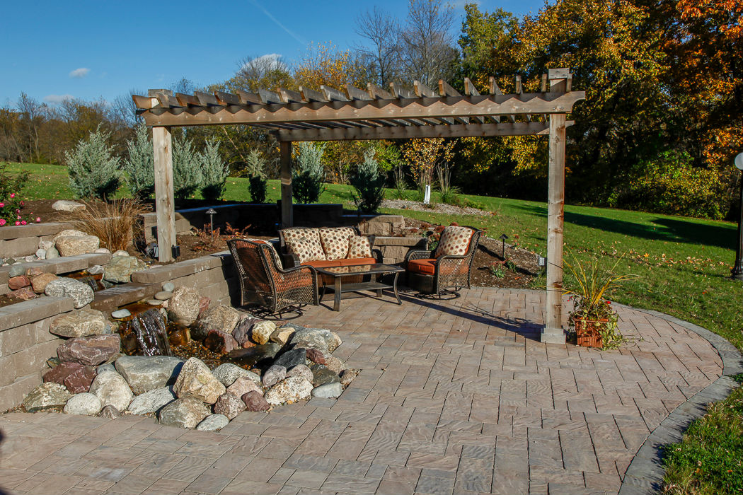 Forever Green Coralville Iowa Patios pergola water features