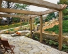 Forever Green Coralville Iowa Pergola flagstone stone wall plantings