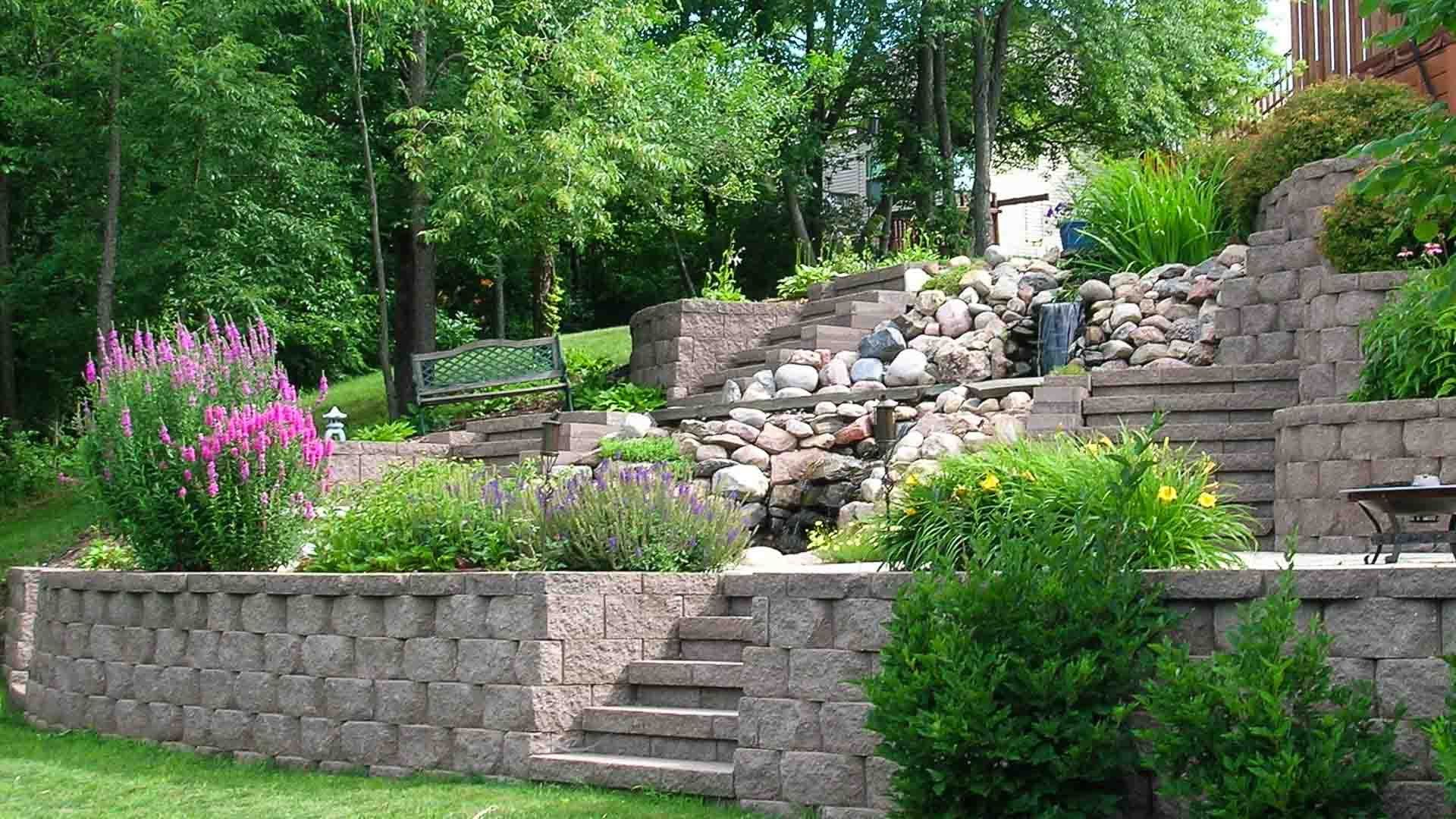 Forever Green Coralville Iowa retaining walls patio landscaping iowa city home slider