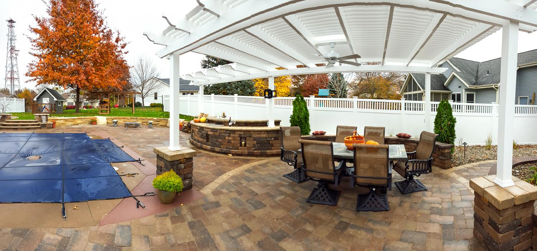 Pergola Outdoor Kitchen Forever Green Iowa City Coralville North Liberty