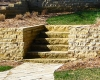 Forever Green Coralville Iowa Retaining Walls limestone wall stairs