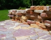 Forever Green Coralville Iowa Retaining Walls patio limestone walls