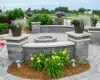 Forever Green Coralville Iowa Retaining Walls seating wall patio fire pit