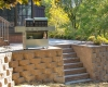 Forever Green Coralville Iowa Retaining Walls steps