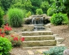 Forever Green Coralville Iowa Water Features pond waterfall stairs natural