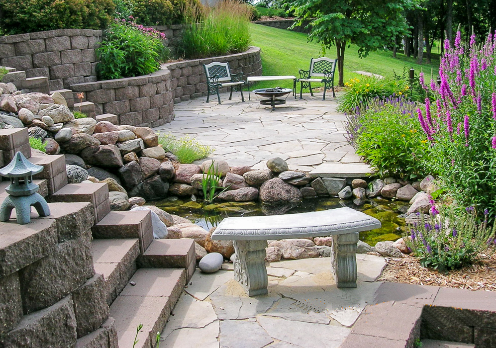 Forever Green Coralville Iowa Water Features waterfall patio - Water Features - Ponds - Landscaping Design Forever Green-Iowa