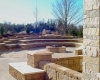 Forever Green Grows Coralville Iowa Fire Pits limestone seat wall retaining wall