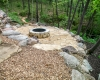 Forever Green Grows Coralville Iowa Fire Pits rock forest