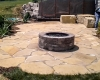 Forever Green Grows Coralville Iowa Fire Pits stone backyard landscape