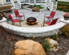 Forever Green Coralville Iowa Fire Pits patio chairs deck