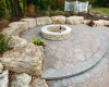 Forever Green Coralville Iowa Fire Pits stone step circle