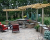 Forever Green Coralville Iowa Landscaping patio pergola fireplace