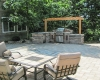 Forever Green Coralville Iowa Pergola patio outdoor kitchen