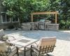 Forever Green Coralville Iowa Pergola patio outdoor kitchen